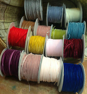 "Velvet 1/8"" Rayon 4mm Ribbon Trim 1yd Assorted Colors"