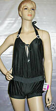 BSWIM 1 PC Jumper Cover Up SwimSuit Black/White L NWT