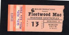 1980 Fleetwood Mac concert ticket stub Riverside Baton Rough LA Tusk Tour