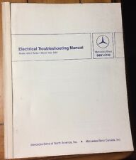 MERCEDES BENZ ELECTRICAL TROUBLESHOOTING MANUAL MODEL 300 D Turbo 1987