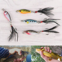 4Pcs/Set Hard Metal Fishing Lures Mini Minnow Lure Bass Crank Bait Tackle Hooks