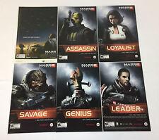 six MASS EFFECT video game ads