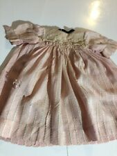ANTIQUE silk  dress for FRENCH doll Jumeau Steiner size 7-8