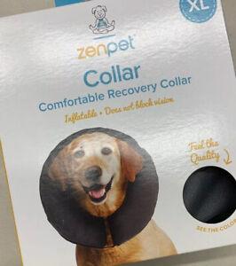 ZenPet ZenCollar Inflatable Recovery Collar  XLarge. Gray. New In box