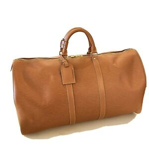 Pristine Condition LV Epi Leather Keepall 55 Cipang Gold