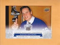2017 18 LEAFS CENTENNIAL SP #198 AUSTON MATTHEWS TORONTO MAPLE LEAFS