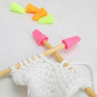 6pcs Knitting Needles Point Protectors Needle Tip Stopper Cover Accessories CA