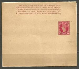 OSBURGH – LEEWARD ISLANDS. QV. 1d MINT WRAPPER WITH GUM.