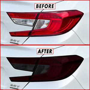 FOR 18-21 Honda Accord Tail Light & Reflector SMOKE Precut Vinyl Tint Overlays