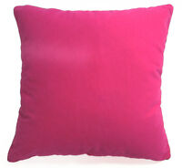 Mb56a Fuschia Pink Plain Flat Velvet Style Cushion Cover/Pillow Case Custom Size