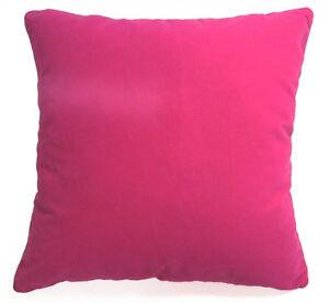 Mb56a Fuschia Pink Plain Flat Velvet Style Cushion Cover/Pillow Case Custom Size