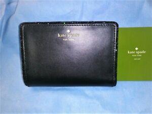 NWT Kate Spade Tellie Seton Drive City Scape Black Glitter Edge Wallet