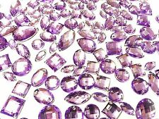 80 mauve facettes acrylique à coudre, à coller sur Cristal Strass Strass Gemmes
