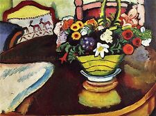 AUGUST MACKE STILL LIFE VENISON OSTRICH PILLOW OLD ART PAINTING PRINT 321OMA