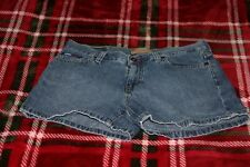 "Women's Jr Tommy Jeans Hilfiger Denim Blue Jean Short Shorts Size 9 W28"" L3"""
