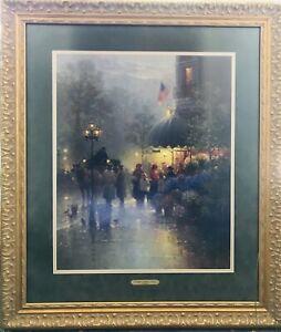 Corner Flower Shop, Boston framed print - signed by G. Harvey