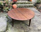Mid Century Modern Jens Risom Round Walnut Coffee Table