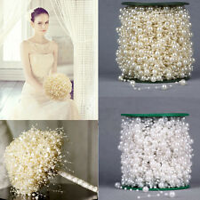 5-100M Fishing Line Pearls Chain Beads Garland Wedding Decor Flower DIY Decor