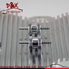 "Aluminium Non Return Check Valve 4mm 1/8"" One Way Petrol Fuel Diesel 2pcs silver"
