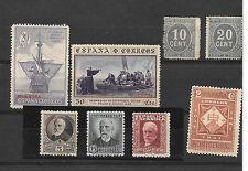 España. Conjunto de 8 sellos Primer Centenario