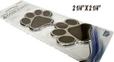 3D Chrome Dog/Cat Animal Paw Print Self Adhesive Emblem Badge/Decal Car-Truck-RV