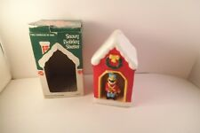 Vintage Jasco Christmas Snowy Holiday Shelter Candle Drummer Boy