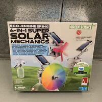 Green Science | 6-In-1 Super Solar Mechanics | 4M | Kids Educational Kit
