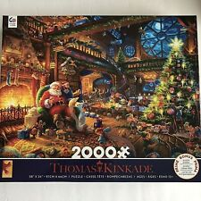 Ceaco Jigsaw Puzzle 2000 Pieces Thomas Kinkade Santas Workshop 2019 Christmas