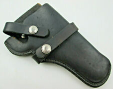 Hunter Black Leather Holster RH Belt Snap Off Series 1100 Model 1100B62 USED