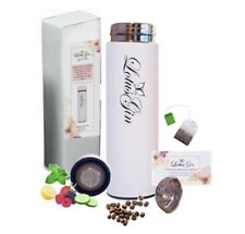 Lotus Gin Travel Mug Tea Infuser Bottle with Filter HOT/COLD Hydro Thermos Flask