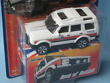 Matchbox Land Rover Discovery Met / Essex Police Toy Model Car 70mm Long