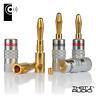 6 x Edge Hi-Fi 4mm Spine a Banana Altoparlante/Amplificatore Cavo Connettori -