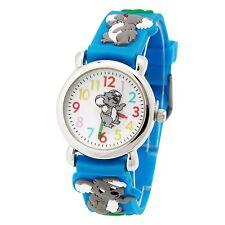 New Cute Koala 3D cartoon Kids Boys girls learn time Silicone Sport Watch UWL13