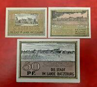 SCHOENBERG REUTERGELD NOTGELD 10, 25, 50 PFENNIG 1922 NOTGELDSCHEINE (13136)