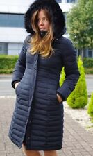 ZARA New Navy Anorak Feather Down  Puffer Coat Size S Uk 8/10 Genuine Zara