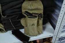 Authentic Russian AK47 3 Cell Ammo Pouch Soviet Olive Ammunition Bag,3 cell