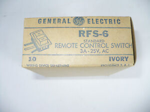 [10] GENERAL ELECTRIC RFS-6 STANDARD REMOTE CONTROL SWITCH 3A-25V / IVORY - LOT