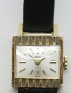 Rolex Tudor Ladies Gold Watch, vintage, working, complete with packaging.