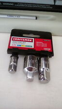 CRAFTSMAN HAND TOOLS 3PC 1/4 3/8 1/2 RATCHET WRENCH SOCKET DRIVE ADAPTER SET