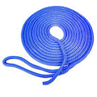 SeaGrace Boat Dock Line   Double Braided 5/8 Inch x 30 FT Blue