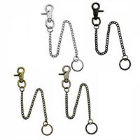 Extra Long Strong Metal Hipster Key Wallet Belt Ring Clip Chain keychain