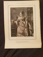 Late Princess Mary Adelaide, Duchess of Teck - 1897 Book Print