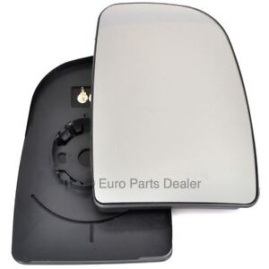 Right Driver side mirror glass with clip for Citroen Relay 2006-20 Heated