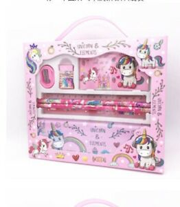 New Cute Girls Unicorn Study Set Stationary Pencil Case Free Ship School Supply