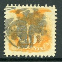 USA 1869 Pictorial 10¢ Yellow w/grill Scott # 116 VFU I345 ⭐⭐⭐⭐⭐⭐