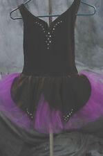 Curtain Call Ballet Velvet Black Purple, TuTu Rhinestone  great for halloween