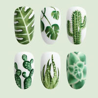 Nail Art Water Transfer Sticker Decals Cactus Kiwi Summer DIY Manicure Decor