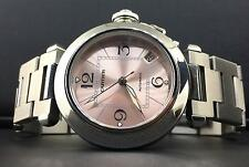 Cartier Pasha Ladies 35mm Stainless Steel Date Pink Dial Automatic Ref. 2324