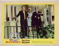 Mitzi Gaynor, David Niven, Carl Reiner Lobby Card HAPPY ANNIVERSARY (1959) Vint+