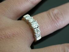 Vintage 14K. Gold 1 CT+ Diamond Wedding Anniversary Band Ring   ..0500